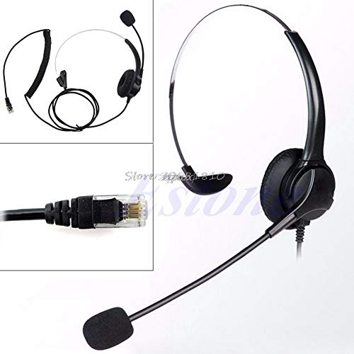Value-5-Star - 4-Pin RJ11 Corded Telephone Headset Call Center Operator Monaural Headphone Z07 from Value★5★Star