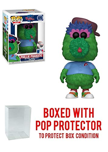 (POP! Sports MLB Mascots Philadelphia Phillies, Phillie Phanatic Action Figure (Bundled with Pop Box Protector to Protect Display Box))