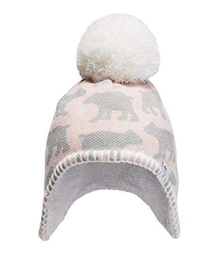 - The North Face Baby Faroe Beanie - Purdy Pink & Highrise Grey Bear Print - XXS