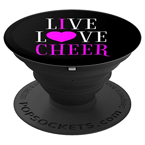 Live Love Cheer I Love Cheer Leading Cheerleader Gift Idea - PopSockets Grip and Stand for Phones and -