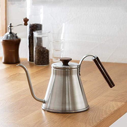 Koffiepotten, Koffie Pot Hand-Flushing Slanke Mond Pot 800ML voor Home Office Koffie Thee Vaatwasser Safe RVS Koffiezetapparaat NBHUYT