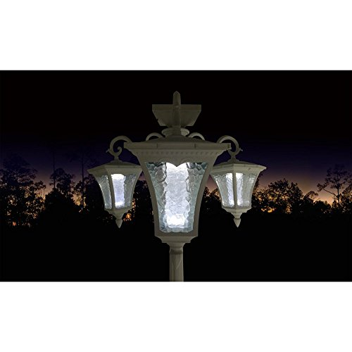 Planter Lamp Outdoor (Sun-Ray Vittoria Solar Lamp Post and Planter)