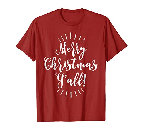 Merry Christmas Y'all Shirt for Women, Unisex, Kids
