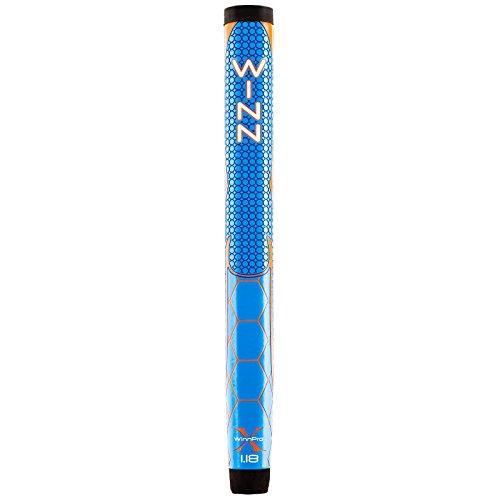 Winn Pro X Putter Grips, 1.18-Inch, Blue/Orange