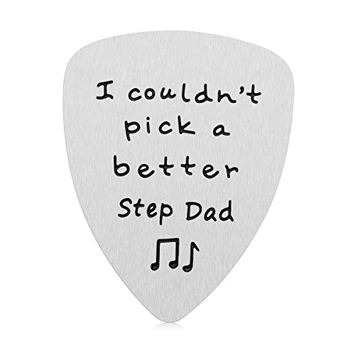 Step Dad Gifts for Father's Day - I Couldn't Pick A Better Step Dad Guitar Pick Gifts for Stepfather, Birthday Gift for Musician Step Dad (Stepdad)