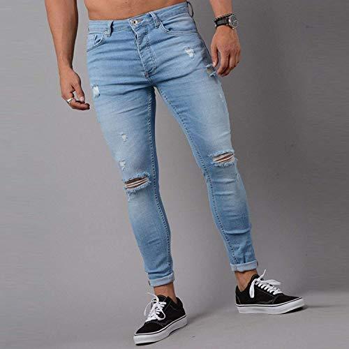 Rasgados Jeans Fit Mezclilla De Skinny Jeans Hombres Blau De Lannister Fashion Casuallook Hombres para Slim De Mezclilla Pantalones Los De Pantalones xZFq1xw6B