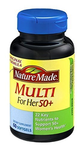 Nature Made Multi for Her 50+ Dietary Softgels Original Formula - 60 Ct(pack of 3)