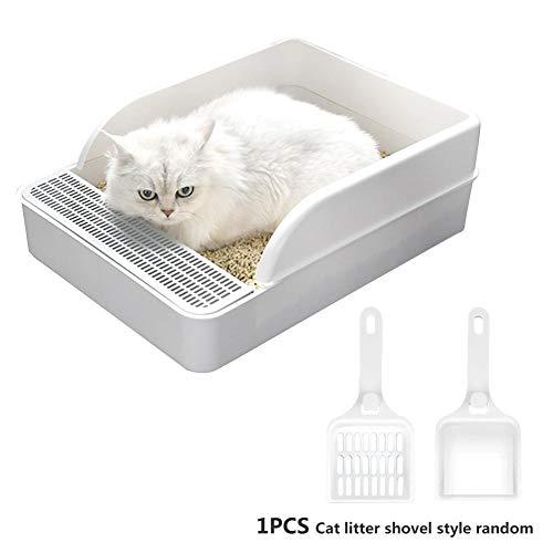 Morningtime Katzen Toilette schalentoilette klein katzentoilette katzenklo mit Rand Robuste Katzenklo Splash Resistance…