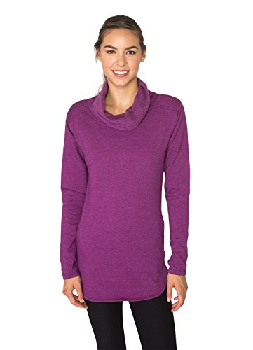 RBX Active Women's Long Sleeve Fleece Cowl Neck Tunic (Mustache Pantyhose)