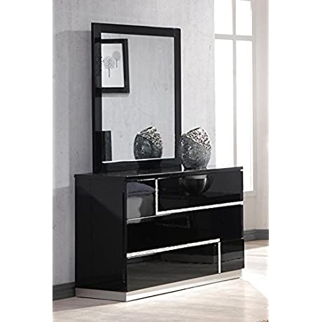 J And M Furniture 17685 DM Lucca Dresser And Mirror