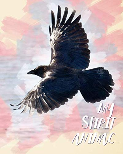 My Spirit Animal: Raven Watercolor Cover - Lined Notebook, Diary, Track, Log & Journal - Cute Gift for Kids, Teens, Men, Women Who Love Ravens & Crows (8