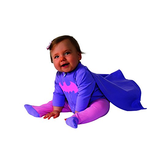 Rubie's Costume Baby Girl's DC Comics Superhero Style Baby Batgirl Costume, Multi, 0-6 Months