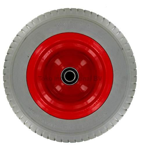 DWT-Germany 100375 PU Sackkarrenrad 6.50-8//165x400mm Vollgummirad Pannenfrei Sackkarrenrad