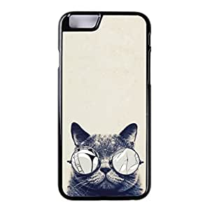 New For iPhone 6 4.7Inch High Quality Hard Case Skin Cover Cat With Glasses