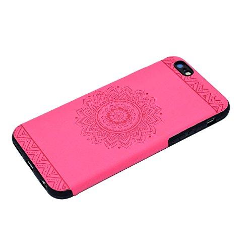 """inShang iPhone 7 4.7"""" Funda y Carcasa para iPhone 7 4.7 inch case iPhone7 4.7 inch móvil,Ultra delgado y ligero Material de TPU,carcasa posterior (Back case) con , + clase alta 2 in 1 inShang marca ne Rose printing"""