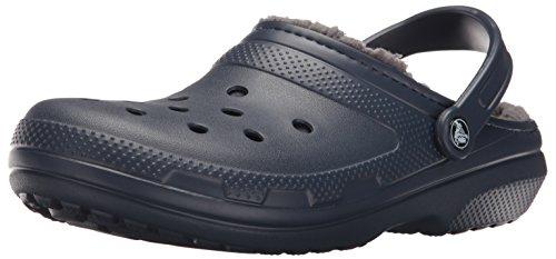 crocs Classic Lined Clog Mule, Navy/Charcoal, 11 US Men / 13 US Women