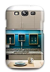 Tina Chewning's Shop Durable Protector Case Cover With Eclectic Downtown Loft Kitchen Storage Hot Design For Galaxy S3