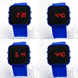 Navy Blue Sports Styles LED Digital Wrist Watches Adjustable Band