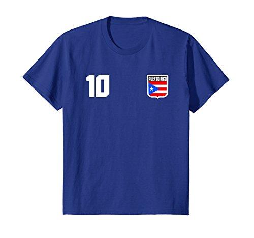Kids PUERTO RICO T-shirt Puerto Rican Tee Retro Soccer Football 6 Royal Blue