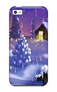 Durable Protector Case Cover With Christmas Girls Nature Hot Design For Iphone 5c