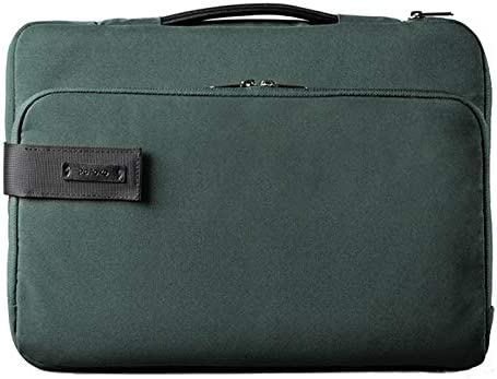 Color : Green 15.6 inch Portable Waterproof Polyester Laptop Handbag with Suitcase Belt