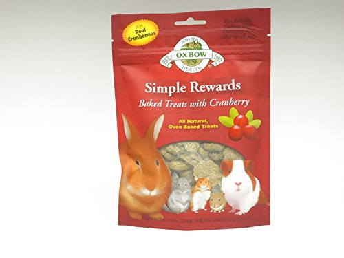 Oxbow Chinchilla (NEW Oxbow Simple Rewards All Natural Oven Baked Treats with Cranberry and Timothy Grass)