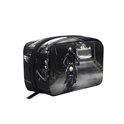 Makeup Bag Biker Motorcycle Ride Vehicle Road Cosmetic Pouch -