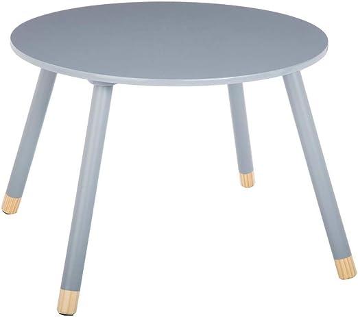 Mesa redonda de madera para niños, color gris: Amazon.es: Juguetes ...