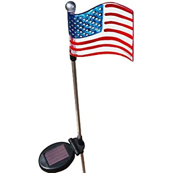 Amazon Com Patriotic U S Flag Solar Light Home Improvement