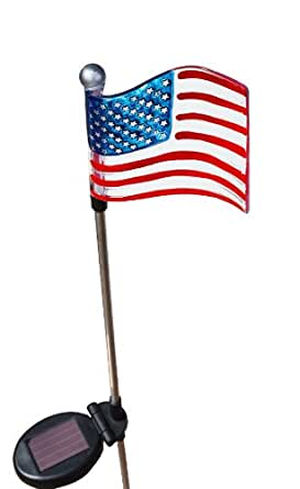 Amazon Com Patriotic U S Flag Solar Light Home Improvement