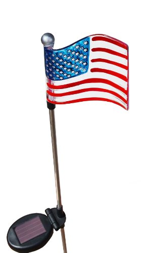 American Flag Solar Light in Florida - 2