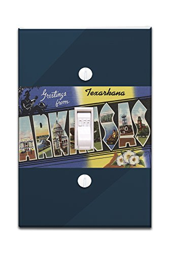 Greetings from Texarkana, Arkansas (Light Switchplate Cover)
