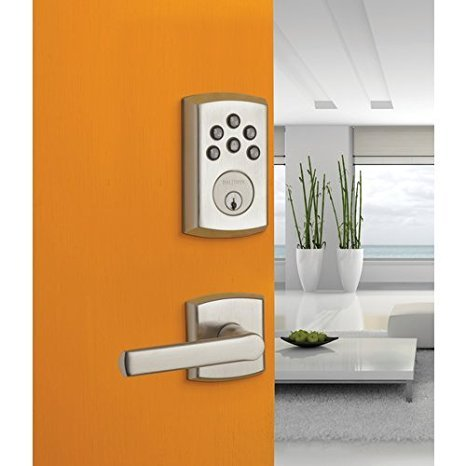 - Baldwin 8285056AC1 Lifetime Satin Nickel Soho Keyless Entry Single Cylinder Electronic Deadbolt
