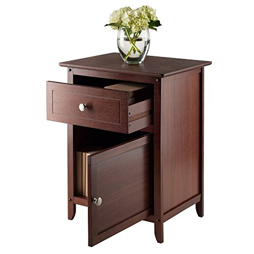 Winsome Wood Night Stand Accent Table W Drawer Amp Cabinet