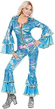 WIDMANN 48422 Adultos Disfraz Discoteca Queen, Multicolor (Azul ...