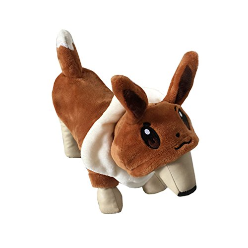 Eevee Easy Costume (Juway Pets Shorn-Pile Eevee Warm Dogs Cloth For)