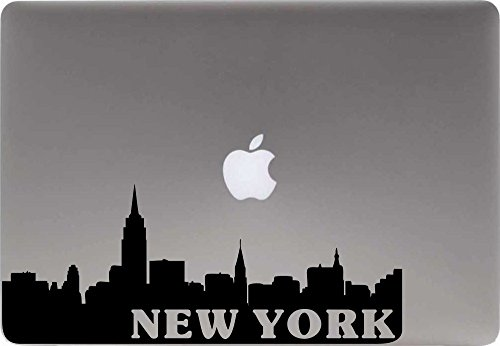 Skyline New York Text Version 1 Vinyl Decal Sticker for Computer Macbook Laptop Ipad Electronics Home Window Custom Walls Cars Trucks Motorcycle Automobile and More - Motor Manhattan Cars