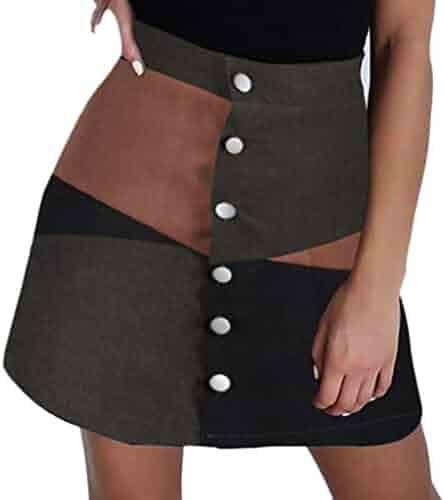 0d8aad0c87cf52 BLTR Women Nightclub PU Dance Hipster Swing Splice Ruched Short Skirt.  seller: Blessed Trust. (0). GreatGiftList Women Casual Retro Low Waist  Leopard Print ...