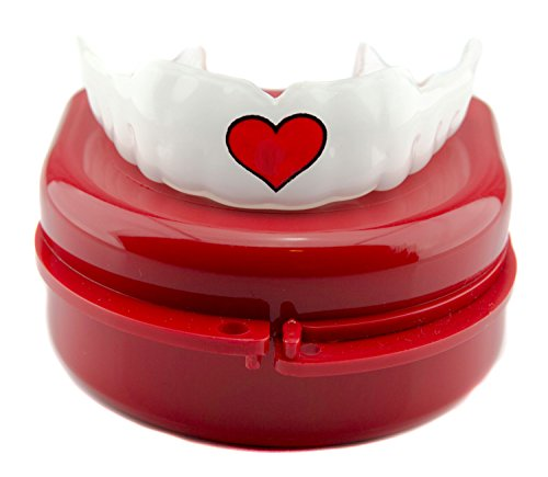 Impact Custom Professional MMA/Boxing/Muay Thai Mouthguard Red Heart by Impact Custom Mouthguard
