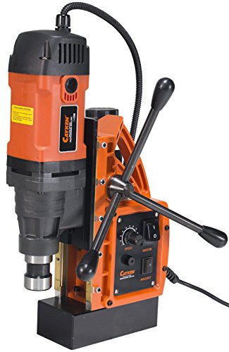 Cayken SCY-42HD 1.65in. Magnetic Drill Press with 1700W 450 RPM Variable Speed Motor Weldon Shank 3500 LBS Magnetic Force
