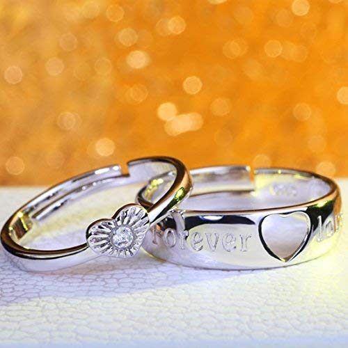 fe17e240b0 Peora Hamper of Couple Ring with Red Rose Gift Box for Boyfriend ...