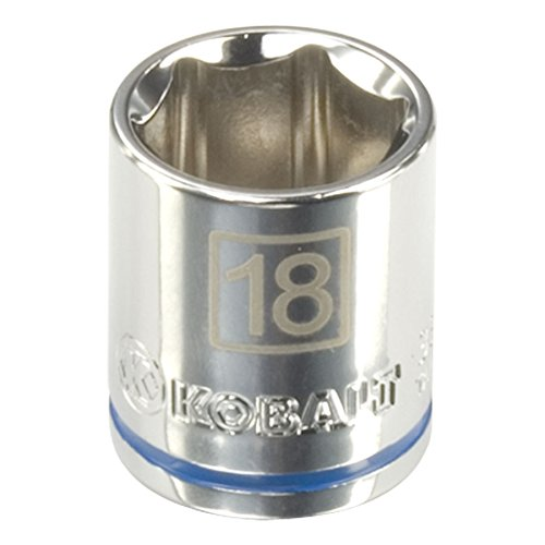 Kobalt Metric 3/8-in Drive 6-Point 18mm Socket