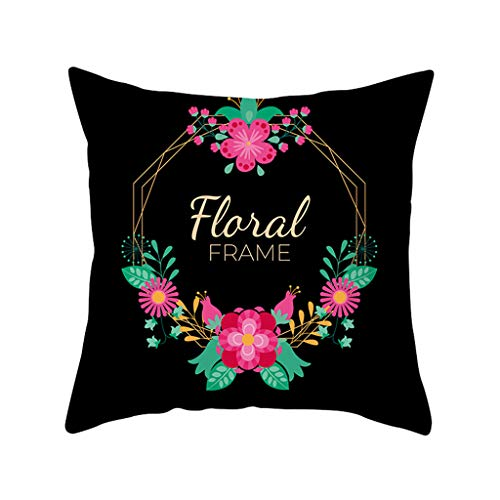 (YAYUMI Green Leaf Print Pillow Case,Sofa Car Cushion Cover Home Decor 45 X 45cm/18x18 inches for Sofa Bedroom Car Home)