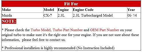 GOWE Turbocompresor para k0422 - 582 53047109904 l33l13700b l33l13700 C Turbo turbocompresor para Mazda 3 6 Mazda CX-7 2007 - 2010 MZR DISI na 2.3L 244hp ...