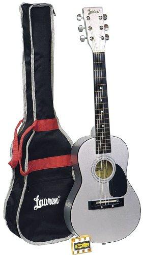 [해외]로렌 LAPKMSL 30 인치 학생 기타 패키지-메탈 릭 실버 / Lauren LAPKMSL 30-Inch Student Guitar Package - Metallic Silver