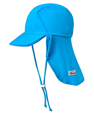 VAENAIT BABY Infant & Kids Boys Sun Protection Sporty Flap Swim hat UV Flap Cap Sky S