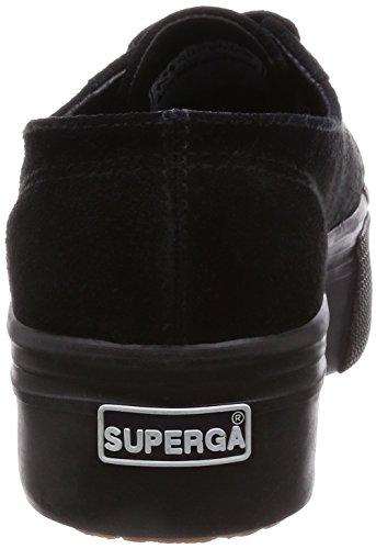 Superga Black Noir suew Full Plate Pompes 2790 à A09 Plateforme Femme rpT6raqwn