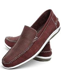 Sapato mocassim Masculino Mr Light Couro Confort Nobuck Italia