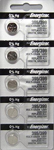 Energizer 395 / 399 Silver Oxide 5 Batteries (SR927W / ()