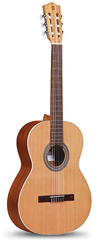 Alhambra 6 String 1OP-US Classical Student Guitar, Right Handed, Solid Red - Music Box Alhambra